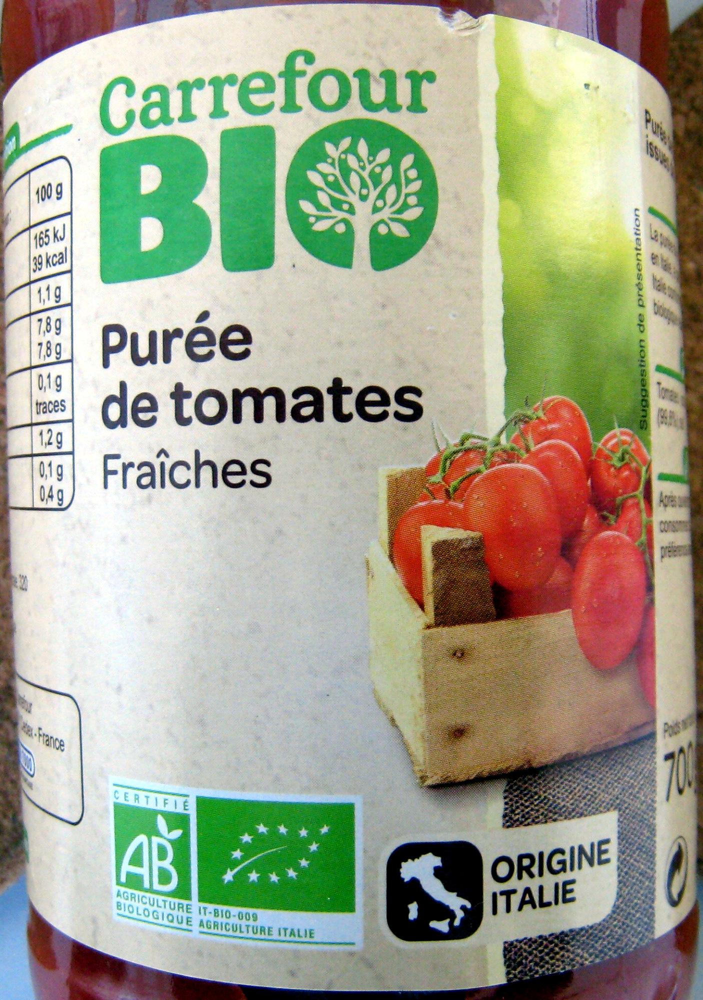 Purée de tomates Fraîches Bio 700 g - Produit