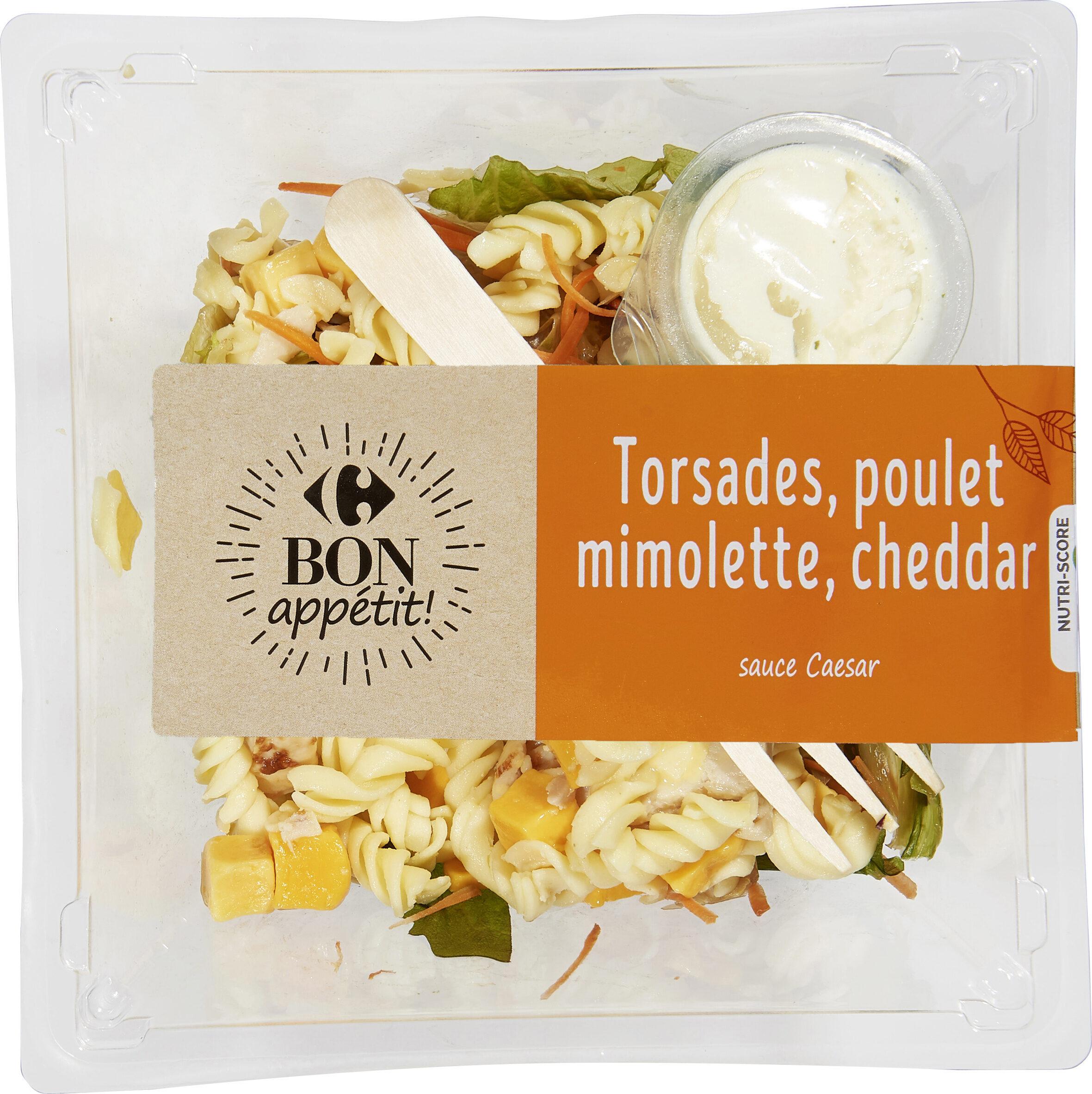 Torsades poulet, mimolette & cheddar - Produit - fr