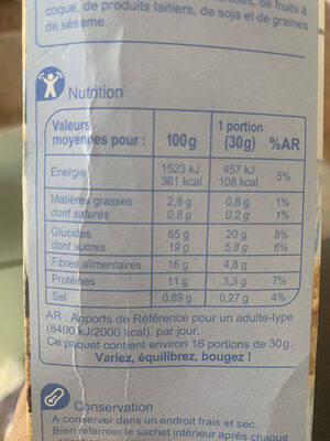 Carrefour Fibra Flakes - Nutrition facts - fr