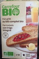 Pain grillé au blé complet bio - Product