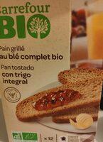 Pain grillé au ble complet bio - Product - fr