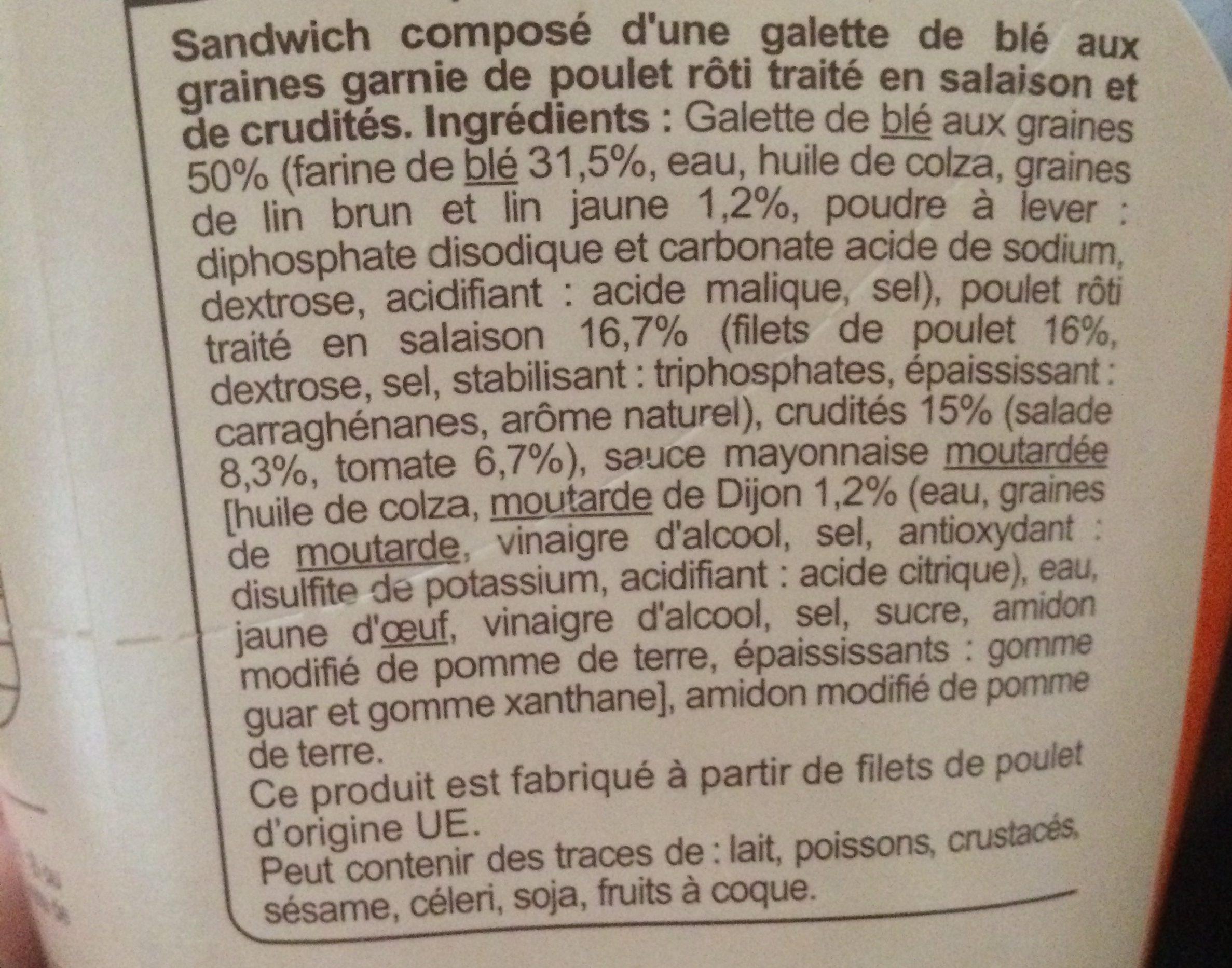 Poulet crudités - Ingrediënten - fr