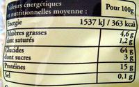 Pâtes d'Alsace IGP  Corolles - Nutrition facts