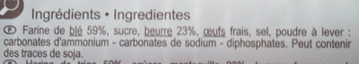 Les Galettes Bretonnes Pur beurre - Ingredients - fr