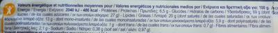 Les Galettes Bretonnes Pur beurre - Informació nutricional - fr