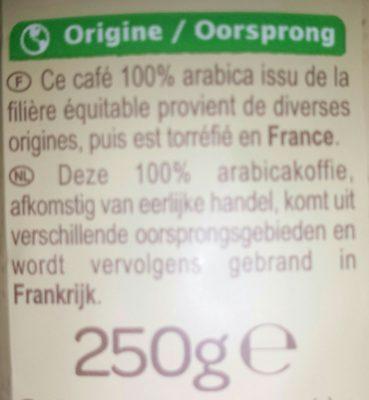 Café moulu doux - Ingrédients