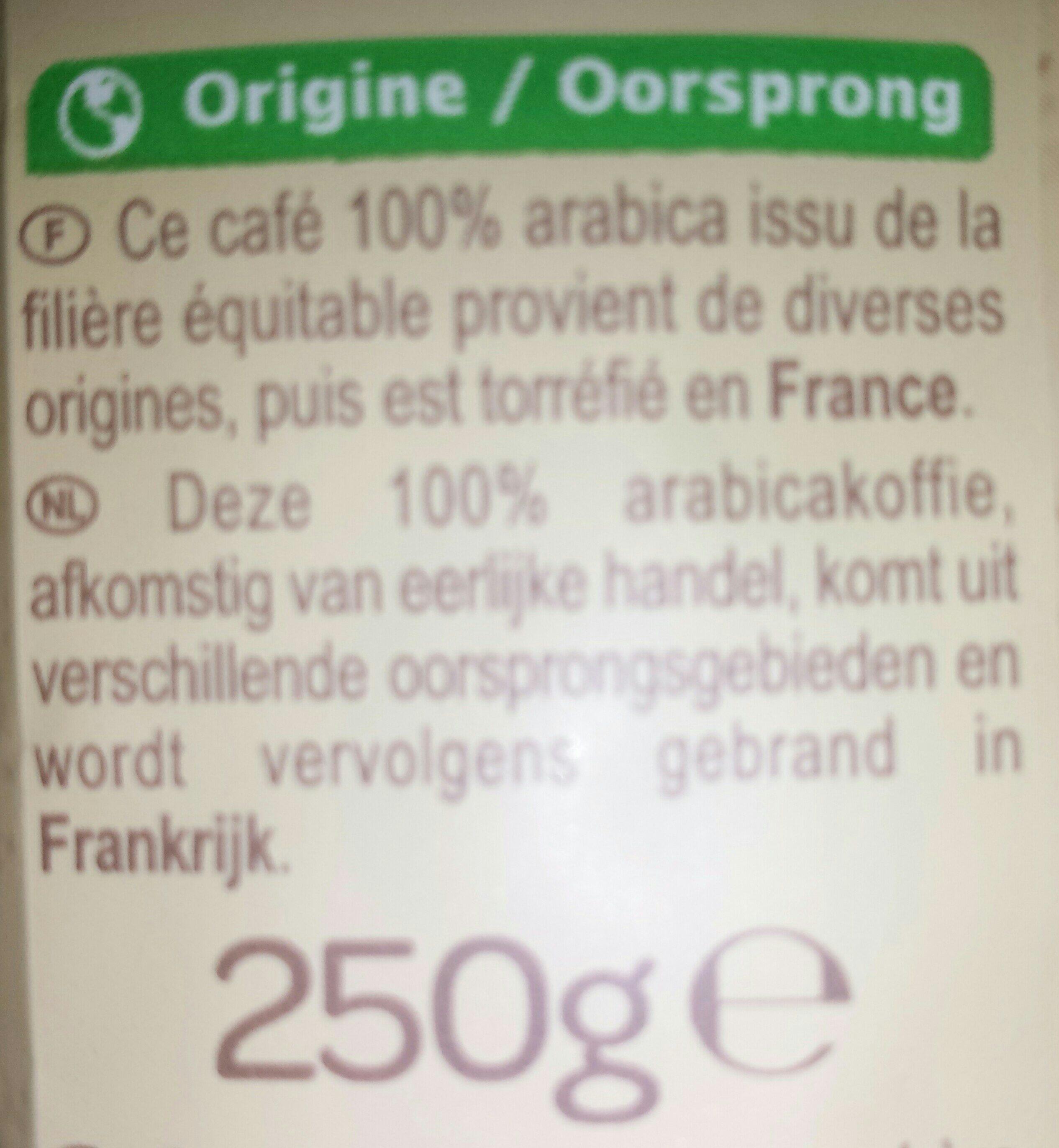 Café moulu doux - Ingrédients - fr