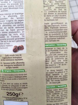 Café moulu corsé - Ingredients - en