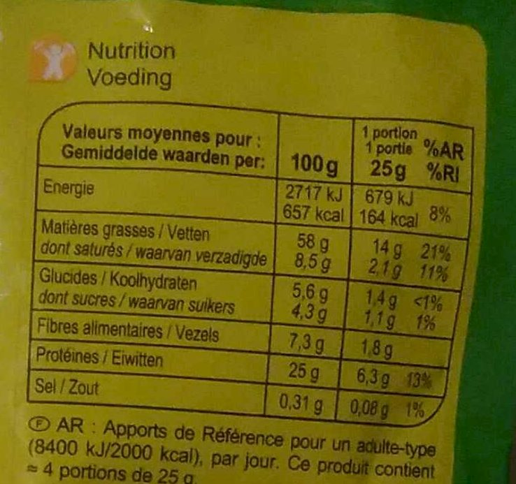 Cocktail Mix - Nutrition facts - fr