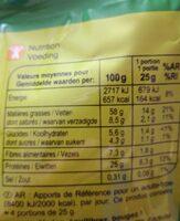 Grillé & salé cocktail - Informations nutritionnelles - fr