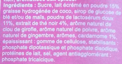 Chai Latte - Ingrediënten - fr