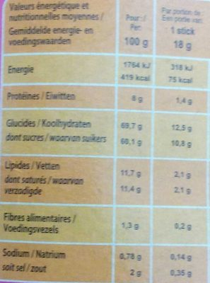 Chai Latte - Voedingswaarden - fr