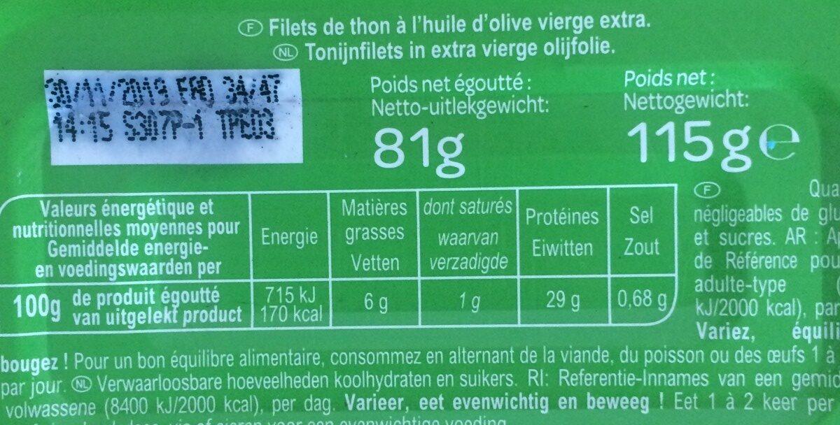 Filetsde thon listaopêché à la canne - Ingredients - fr