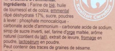 Crackers Emmental - Ingredients - fr