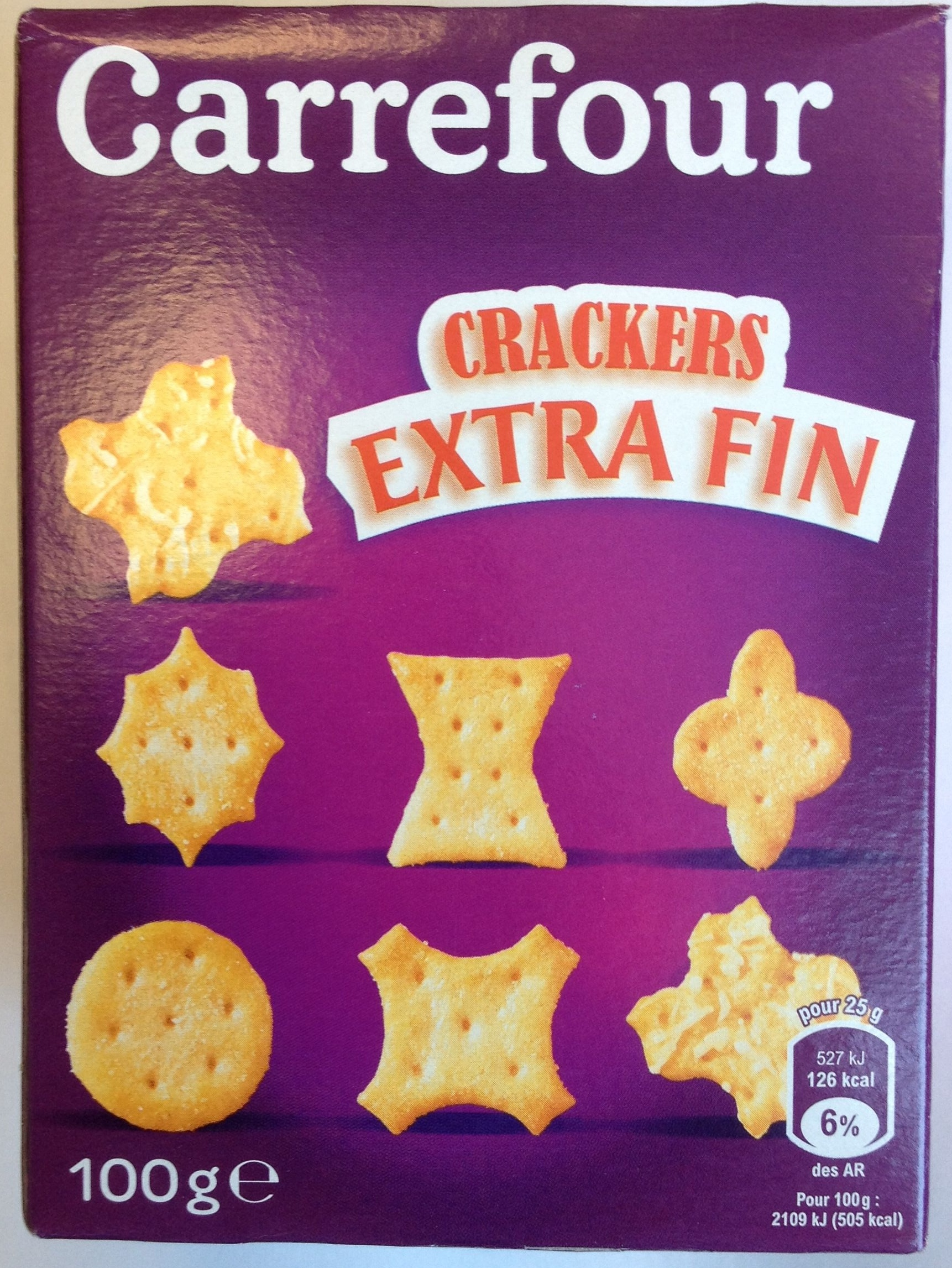 Crackers extra fin - Product - fr