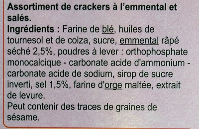 Crackers extra fin - Ingrediënten - fr