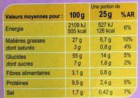 Crackers extra fin - Voedingswaarden - fr