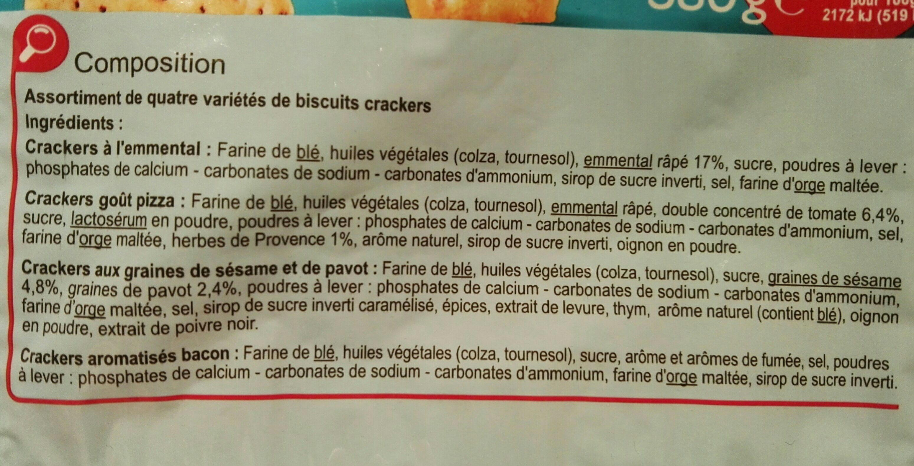 Carrefour coffret crackers - Ingrédients - fr