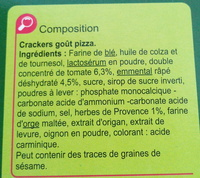 Crackers Goût Pizza - Ingrédients - fr