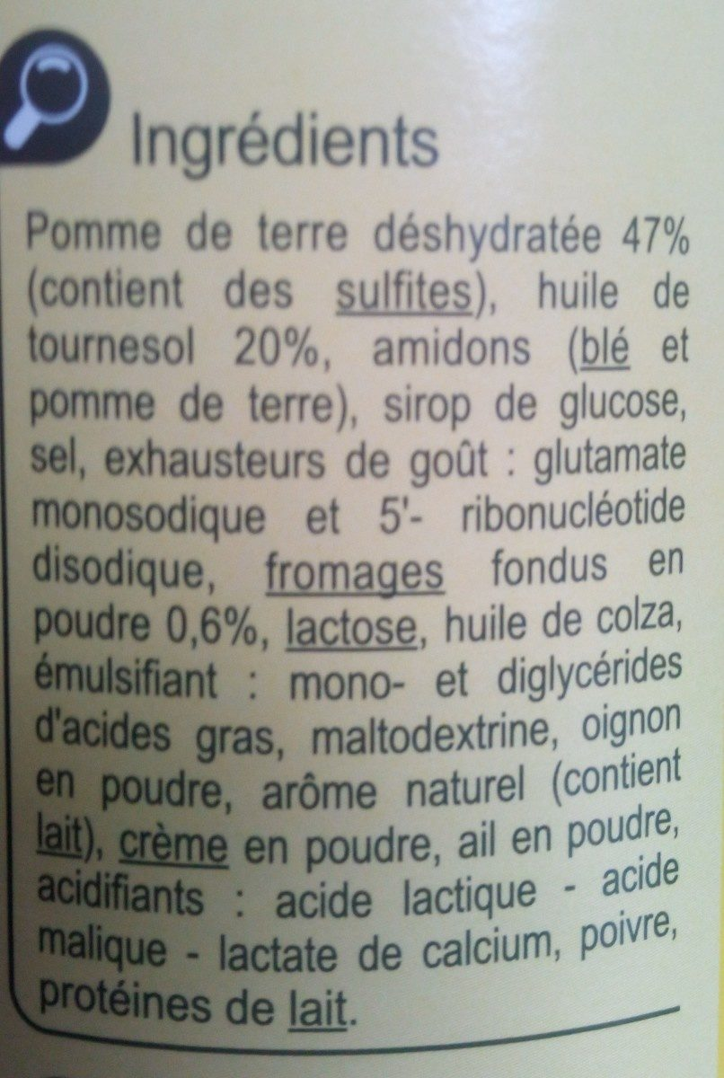 Tuiles goût fromage - Ingrédients - fr