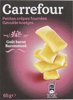 Petites crêpes fourrées Goût bacon - Produit - fr