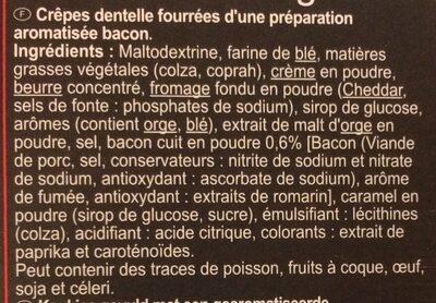 Petites crêpes fourrées Goût bacon - Ingrédients - fr