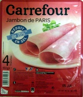 Jambon de Paris réduit en sel de 25 % - Product
