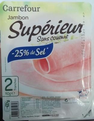 Jambon Supérieur sans couenne réduit en sel de 25 % - Produit - fr