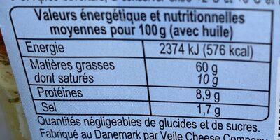 Dés de Fromage (Herbes de Provence & Poivrons) - Informations nutritionnelles - fr