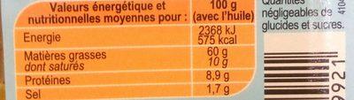 Dés de Fromage (Herbes de Provence & Poivrons) - Informations nutritionnelles