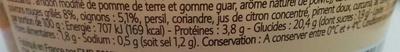 Taboulé aux 5 Légumes, Les Classiques - Informations nutritionnelles - fr