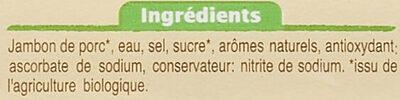 Jambon de Paris - Ingrédients - fr