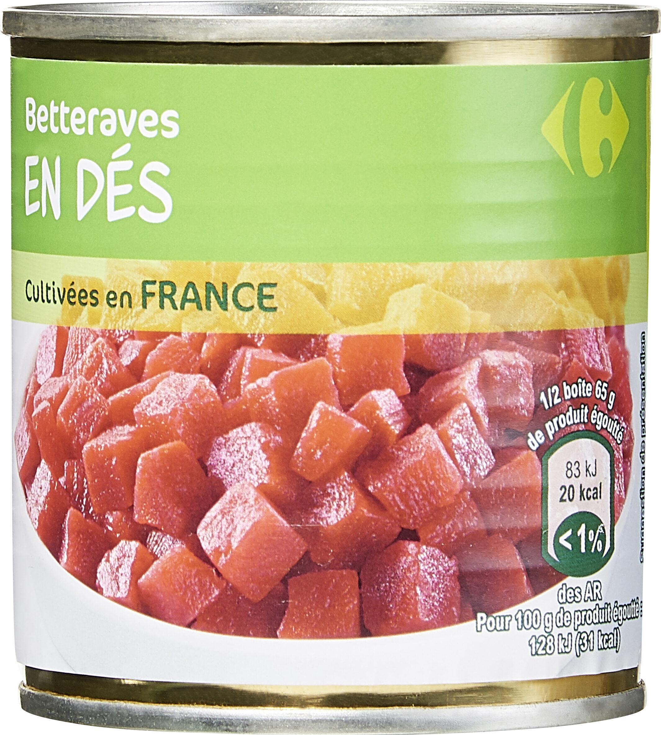 Betteraves rouges en dés - Produit - fr