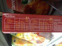 Pané de volaille façon milanaise  spaghetti à la sauce tomate - Informations nutritionnelles