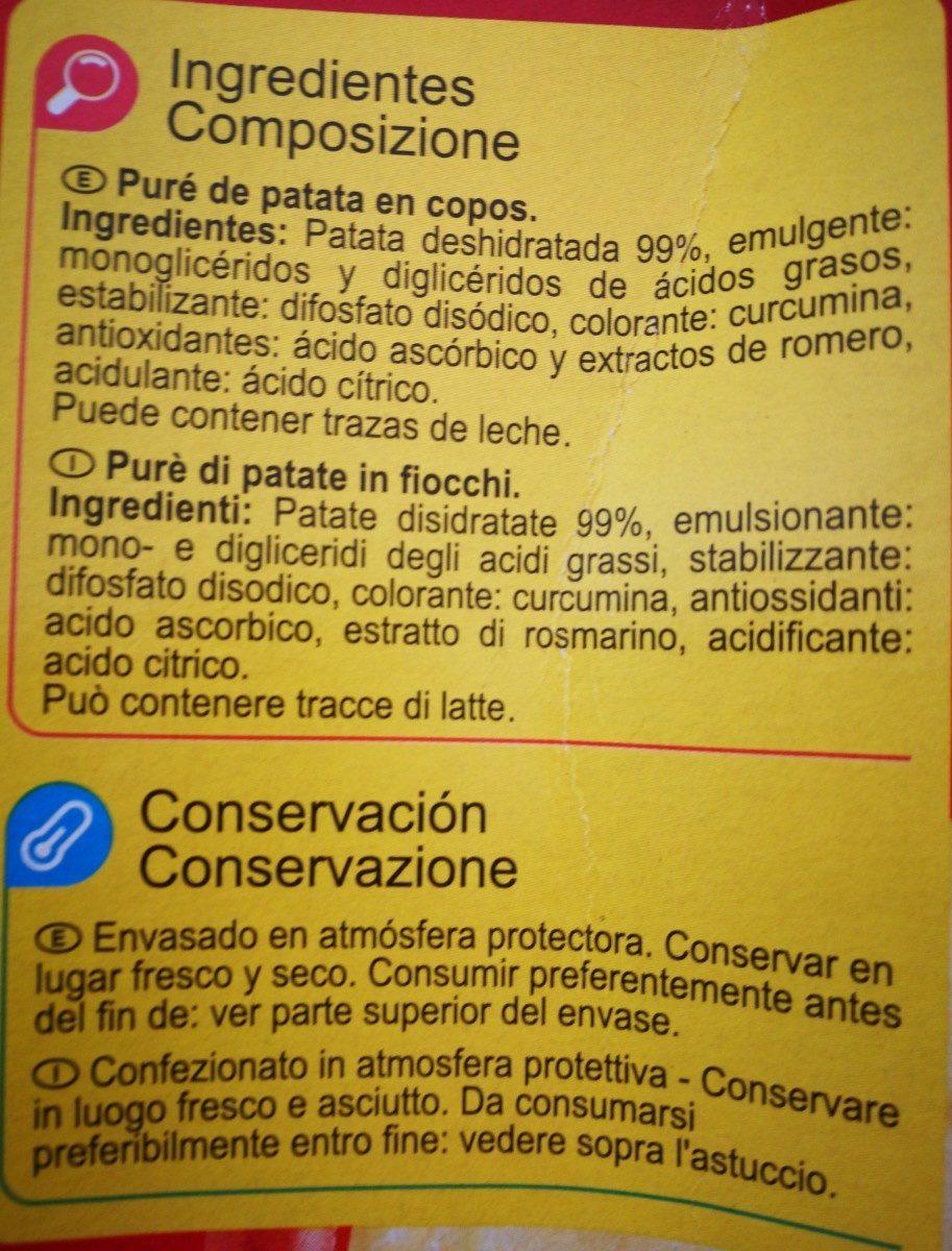 Carrefour Puré de patatas - Ingredientes