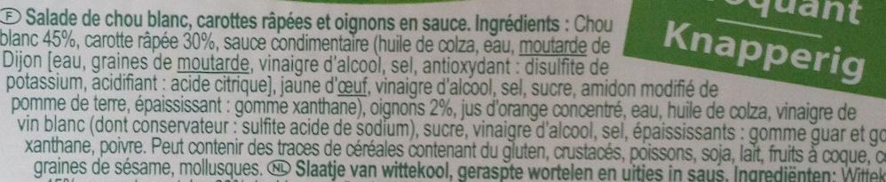 Coleslaw - Ingrediënten - fr