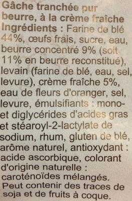 Gâche tranchée - Ingredienti - fr