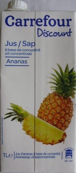 Jus à base de concentré Ananas - Product - fr