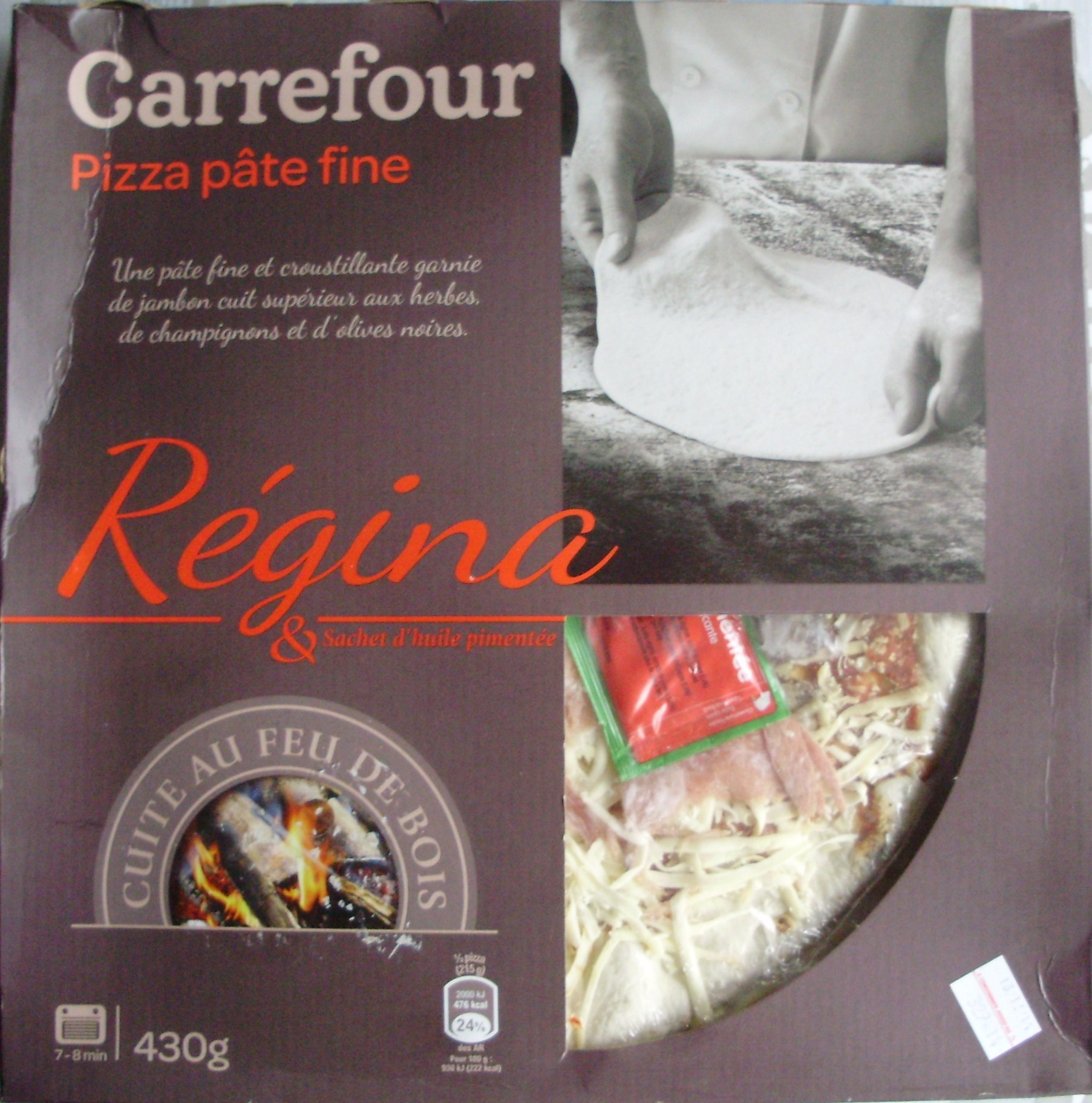 pizza p te fine r gina carrefour 430 g. Black Bedroom Furniture Sets. Home Design Ideas
