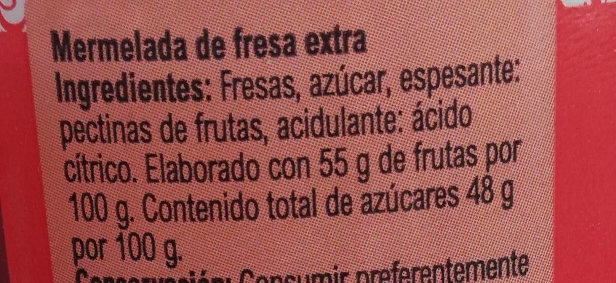 Mermelada fresa - Ingrédients - fr