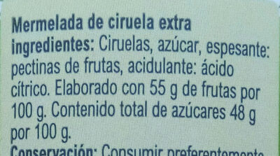 Mermelada ciruela - Ingrédients - es