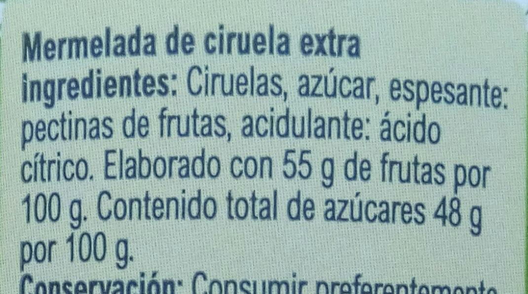 Mermelada ciruela - Ingredientes - es