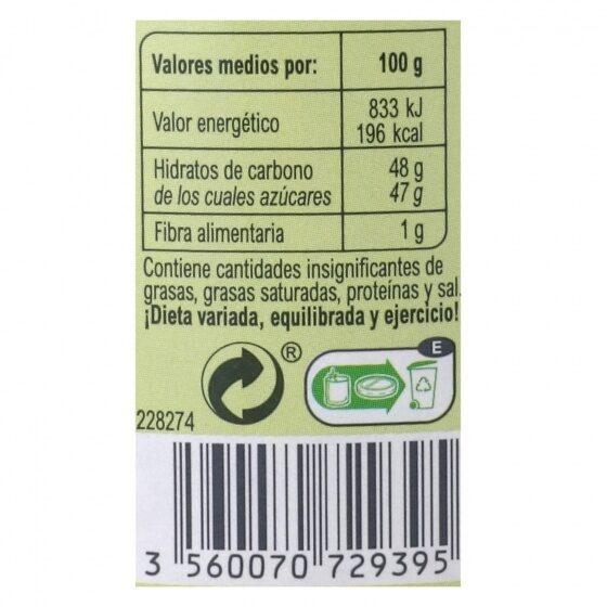 Mermelada ciruela - Información nutricional - es