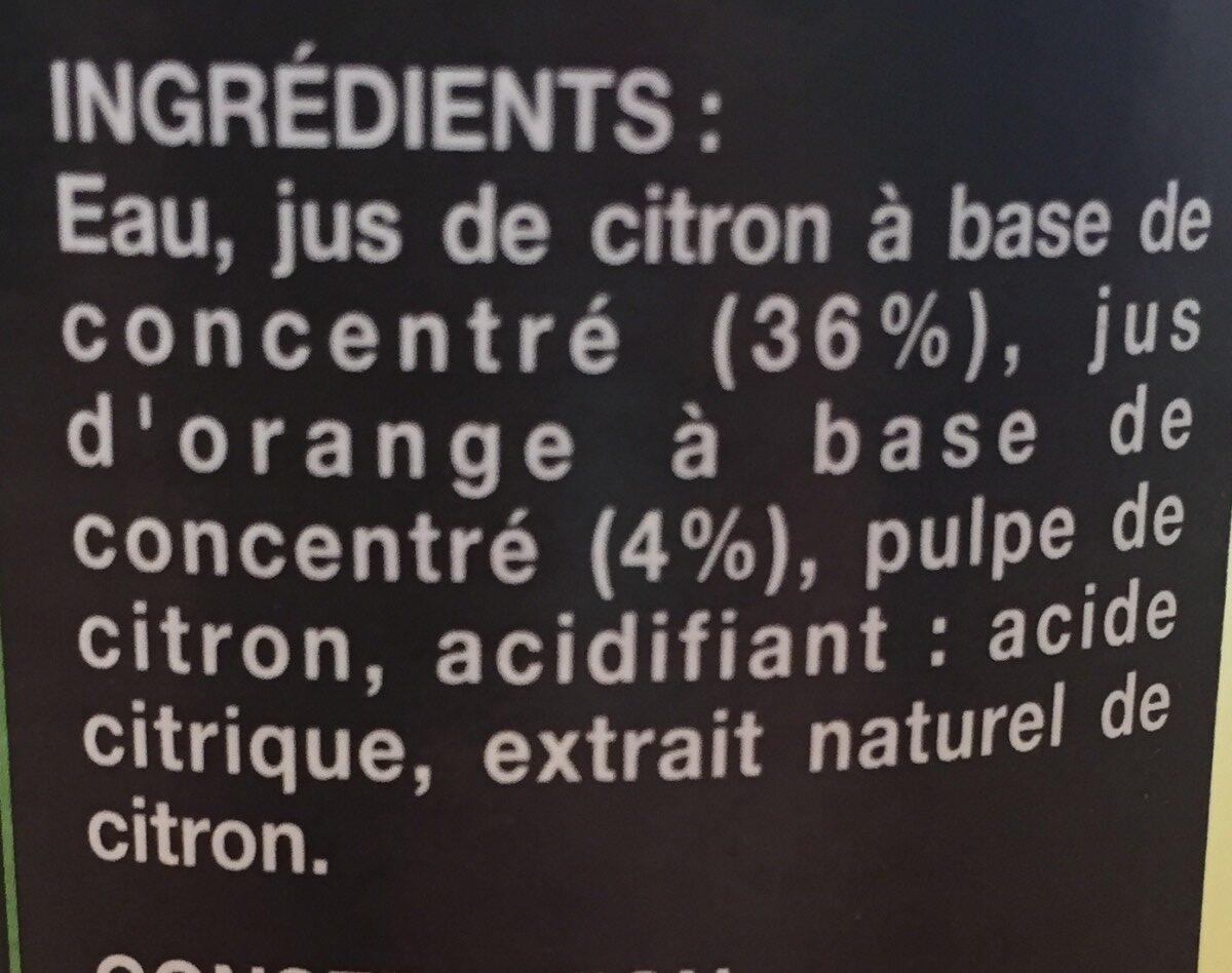 Spécialité à diluer Citron - Ingrédients - fr