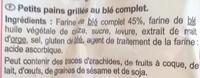 Petits pains grilles - Ingrédients - fr