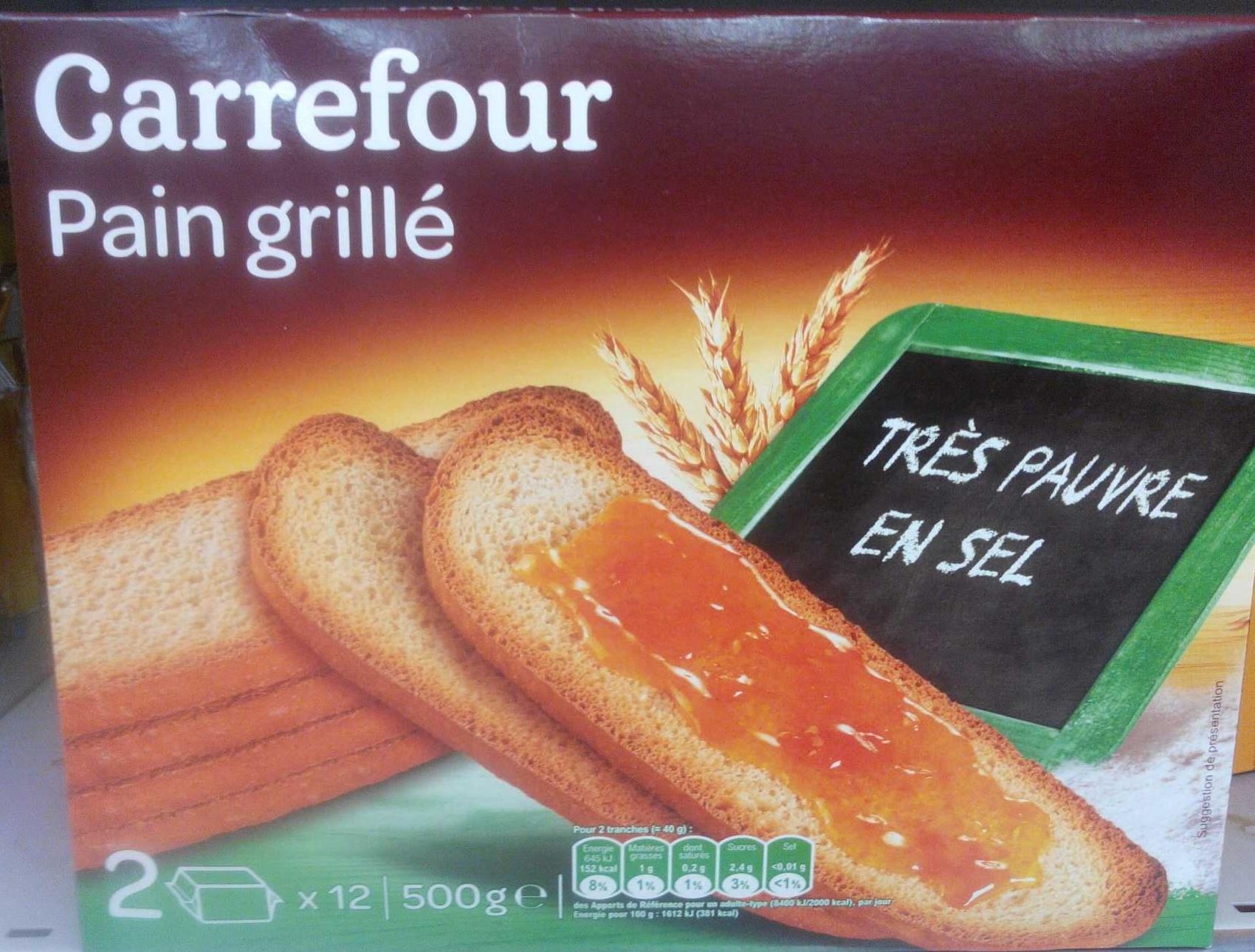 Pain grillé très pauvre en sel - Produit - fr
