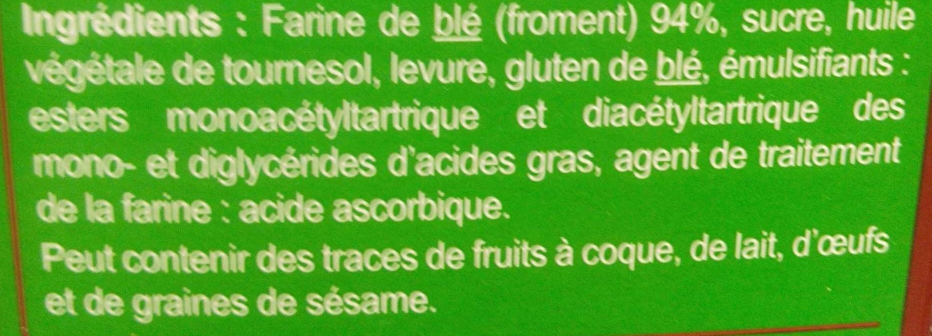 Pain grillé très pauvre en sel - Ingrédients - fr