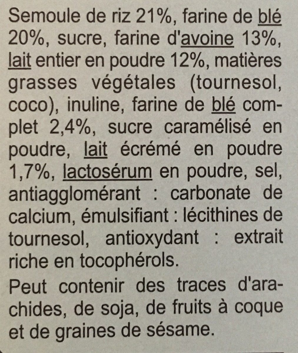 Xtrem lait - Cœur fondant - Ingrediënten - fr