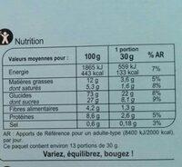 Xtrem lait - Cœur fondant - Informations nutritionnelles - fr
