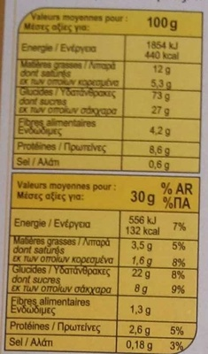 X'trem au chocolat saveur caramel - Voedingswaarden - fr